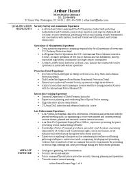 Officer Resume Personal Protection Detail Resume Sample Infantry Platoon
