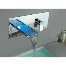Bathroom Sink Wall Faucets by Yodel Waterfall Faucets For Clear Glass Basin U0026 Bathroom Sink