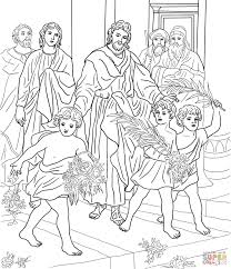 children greeting jesus coloring page free printable coloring pages
