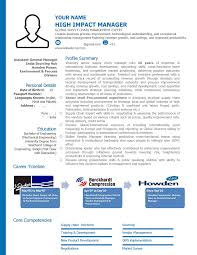 Sample Resume For Senior Manager by Free Resume Samples Free Cv Template Download Free Cv Sample