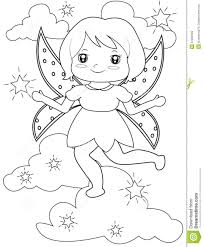 sparkling fairy coloring page stock illustration image 51089103