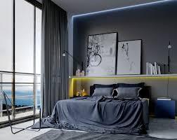 manly bedroom decor corn flower blue modern blanket brown fabri