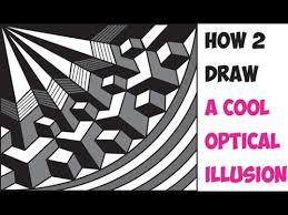 how to draw cool 3d optical illusions drawing trick easy step by