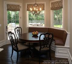 incredible custom kitchen booth with build corner banquette