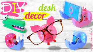 Desk Organization Accessories by Diy Desk Decor And Organization Ideas U2013 How To Make Cute Animals
