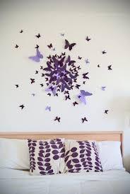 best 25 butterfly wall decor ideas on pinterest wall decoration 3d butterfly wall art decal set of 70 in purple paper butterflies modern art nursery bedroom