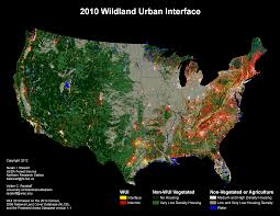 Population Density Map United States by The Wildland Urban Interface Silvis Lab