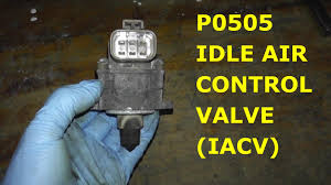 how to test and replace idle air control valve p0505 hd youtube