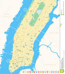 Brooklyn New York Map by New York Map Lower And Mid Manhattan Stock Vector Image 58025278