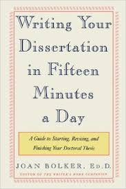 Amazon com  Writing Your Dissertation in Fifteen Minutes a Day  A     Amazon com  Writing Your Dissertation in Fifteen Minutes a Day  A Guide to Starting  Revising  and Finishing Your Doctoral Thesis                  Joan