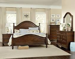 King Bedroom Set Armoire Heritage King Poster Bed With Curved Headboard And Footboard By