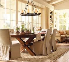 dining room shabby dining table decor idea with glass jars also