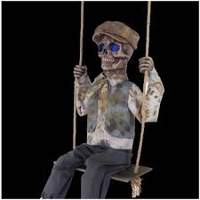 Halloween Skeleton Props by Swinging Skeleton Boy Animated Prop Mad About Horror
