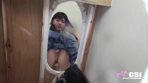 Toilet slave peeing|