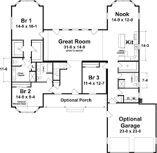 Lakehouse Floor Plans The Lake House 2559 Square Foot Ranch Floor Plan