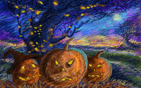 halloween pumpkin wallpapers free halloween desktop wallpaper 1600x900 wallpapersafari