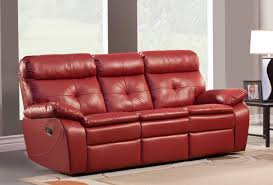1 759 00 wallace 2pc double reclining sofa set in red bonded