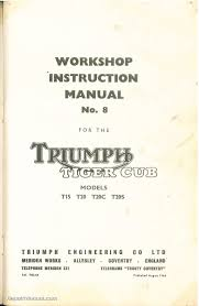 triumph tiger cub terrier t15 t20 t20c t20s workshop instruction