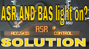 mercedes e class bas asr light on youtube