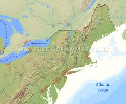 United States Map Delaware by Northeastern Us Physical Map