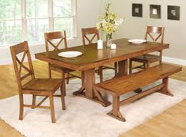 Dining Table Set Traditional Oak Benches For Dining Tables