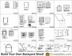 Free Saltbox Wood Shed Plans by 10x12 Barn Shed Plans Gambrel Shed Plans