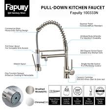 How To Open Kitchen Faucet by Fapully Contemporary Spring Single Handle Kitchen Sink Faucet With