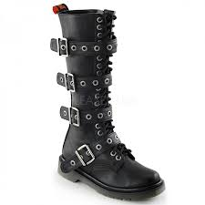 motorcycle biker boots buckled rival 404 womens combat boot knee high gothic boot