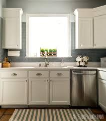 Painted Kitchen Backsplash Photos Builder Grade Kitchen Makeover With White Paint