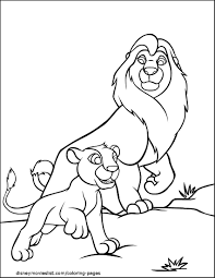 rafiki raises simba lion king coloring page