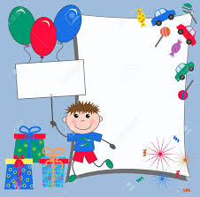 Birthday Invitation Cards For Kids Celebration Or Invitation Card Royalty Free Cliparts Vectors And