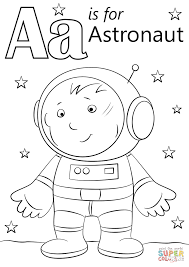 letter a is for astronaut coloring page free printable coloring
