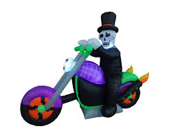 Inflatable Halloween Train by Halloween Inflatable Ghost Motorcycle Bike Skeleton Blowup Air