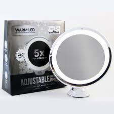amazon com led makeup mirror adjustable 5x magnification