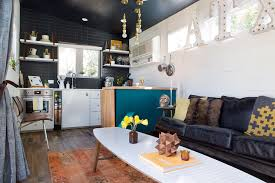 Interior Design For Small Spaces Living Room And Kitchen A 400 Square Foot House In Austin Packed With Big Ideas Small
