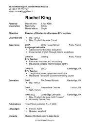 english teacher cv  example resume good resume template for