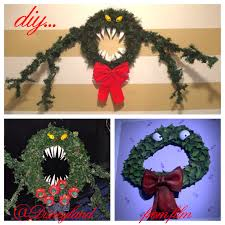 nightmare before christmas man eating wreath tutorial new diy