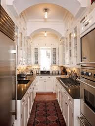 kitchen interesting white galley kitchen design featuring