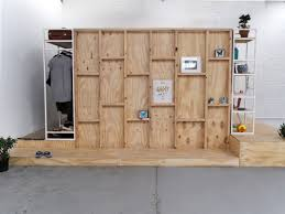 creative wooden sleeping pods with built in furniture as parts of wooden frame as display children sleeping pods idea