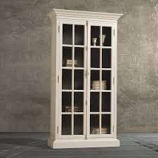 furniture amazing white bookcase with glass doors design nu