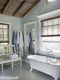 vintage beach bathroom decor gray ceramic backsplash built in