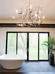 bathrooms modern bathroom designs with magnificent chandelier