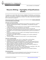 Qualifications Summary Resume Example by Summary Of Qualifications Resume Samples Free Resume Example And