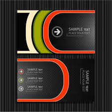 Business Card Eps Template Fine Lines Background Vector Business Card Templates Free Vector