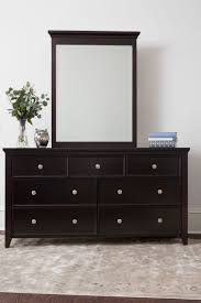 Bedroom Furniture Espresso Finish 3 Over 4 Drawer Dresser Espresso Craft Bedroom Furniture