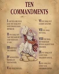 The 10 Commandments from One True Eternal Almighty God Yahweh