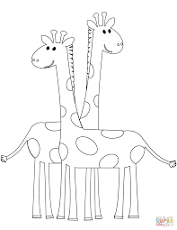 cartoon giraffe coloring pages olegandreev me
