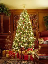 decoration cozy christmas tree with elegant christmas decorations