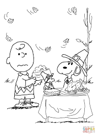 coloring charlie brown thanksgiving pages free eson