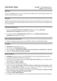 Sap Mm Sample Resumes by Sap Basis Administrator Consultant Amit Gupta Sap Basis 1 Year Of Ex U2026